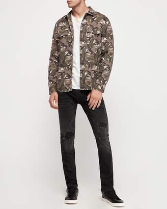 Express Camo Straight Hem Shirt Jacket