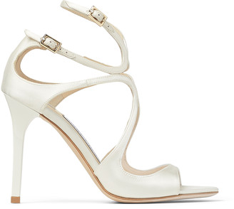 Jimmy Choo LANG Ivory Satin Sandals