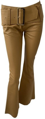 Jitrois Camel Leather Trousers