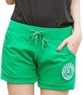 QIYUN.Z Women Casual Short Pants Candy Waist Drawstring Sport Board Surf Shorts Pantalon