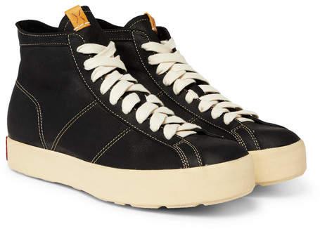 Visvim Foley Folk Full-Grain Leather High-Top Sneakers