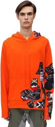 Paul & Shark X Greg Lauren Oversize Cotton Jersey Hoodie W/patches