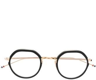 Thom Browne Eyewear Oval Frame Glasses
