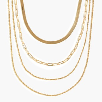 J.Crew Mixed chain layer necklace