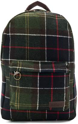 Barbour checked front pocket backpack