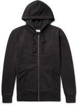 Saturdays NYC Jp Fleece-back Cotton-jersey Zip-up Hoodie - Black