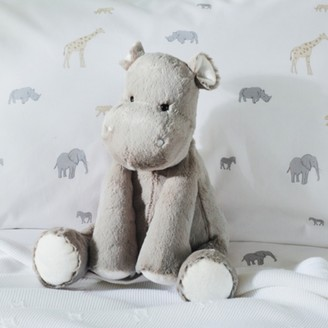 The White Company Henry Hippo Medium Toy, Grey, One Size