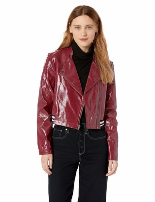 BCBGeneration Women's Moto Woven Cropped Jacket