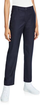 Agnona Wool Flannel Tapered-Leg Pants