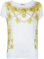 Versace floral print T-shirt - women - Polyester/Modal - S