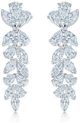 Kwiat platinum diamond American Beauty earrings
