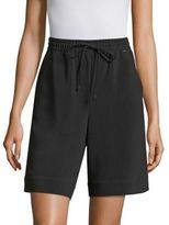 St. John Solid Drawstring Shorts