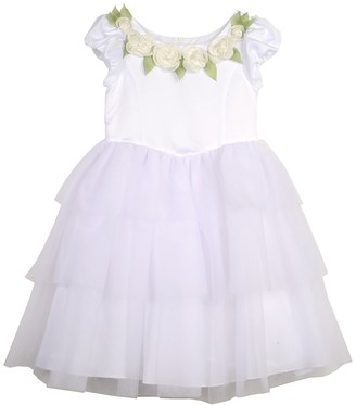 Pastourelle By Pippa And Julie Floral Applique Flower Girl Dress (Baby Girls)