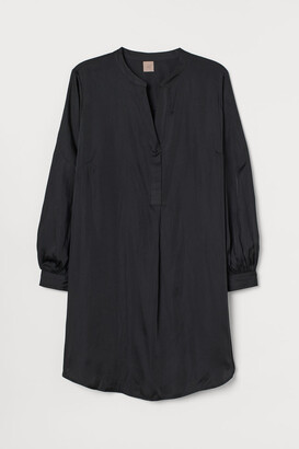H&M H&M+ Satin Dress - Black