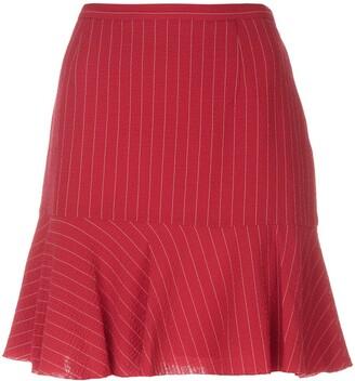 Moschino Pre Owned Pinstripe Mini Skirt