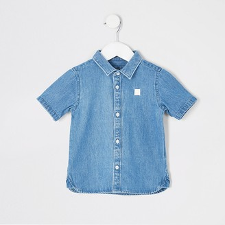 River Island Mini boys blue Mini Rebel denim shirt