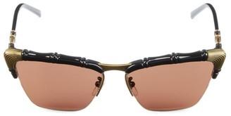 Gucci 58MM Bamboo-Effect Cat Eye Sunglasses