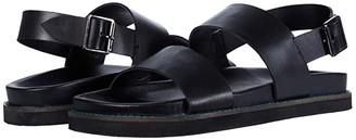 Walk London Jackson Sandal (Black Leather) Men's Shoes