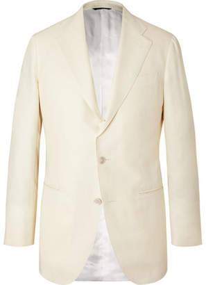 Off-White Saman Amel Wool, Silk And Linen-Blend Twill Suit Jacket