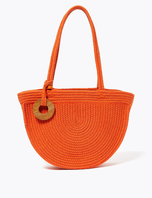 Marks and Spencer Cotton Rich Woven Shoulder Bag