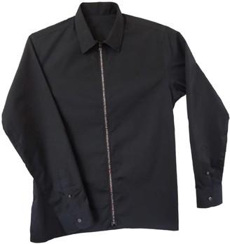 Classic Collar Cotton Shirt With Rainbow Zipper