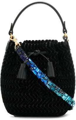 Anya Hindmarch embellished strap bucket bag