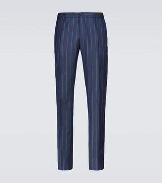 Dolce & Gabbana Pinstriped virgin wool pants