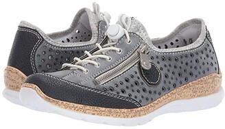 Rieker N42P6-14 (Pazifik/Atlantic/Altsilber) Women's Shoes