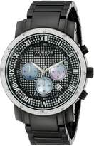 Akribos XXIV Men's AKR439BK Grandiose Dazzling Diamond Chronograph Watch