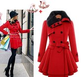 Imixshopcs Women's Double Breasted Pure Color Trench Coats With Belt