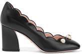 Gucci Embellished Leather Pumps - Black