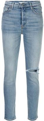 GRLFRND slashed knee skinny jeans