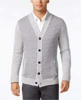 Alfani Men's Big and Tall Colorblocked Textured-Panel Cardigan, Only at Macy's