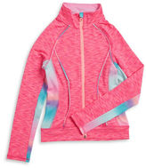 Jill Yoga Girls 7-16 Colorblocked Active Mockneck Jacket