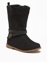 Old Navy Sueded Buckled Boots for Toddler