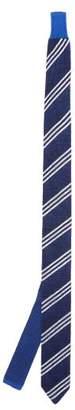 Missoni Striped Wool Blend Tie - Mens - Blue White