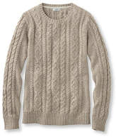 L.L. Bean Double L Mixed-Cable Sweater, Crewneck Marled