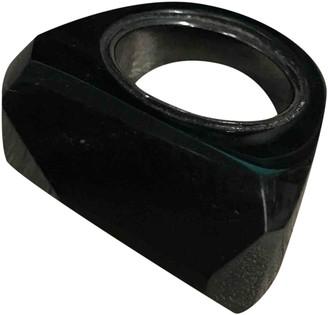 Burberry Black Plastic Rings