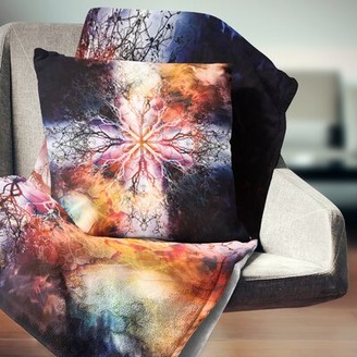 "East Urban Home Abstract Mandala with Tree Pattern Pillow Size: 16"" x 16"", Product Type: Throw Pillow"