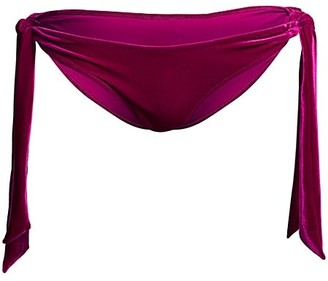 Jonathan Simkhai Side-Tie Velvet Bikini Bottoms