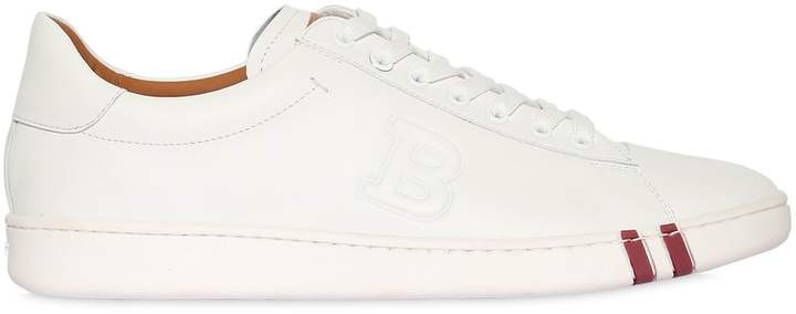 Bally Leather Sneakers W/ Logo Detail