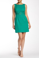Tahari Boatneck Sleeveless Dress (Petite)