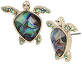 Betsey Johnson Glitter Reef Turtle Stud Earrings