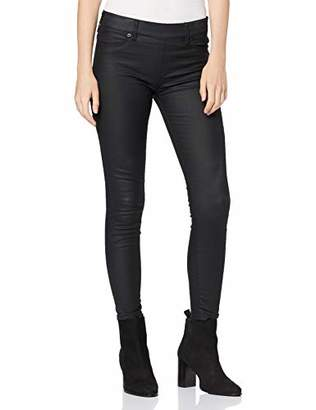 True Religion Women's Jegging Fake Leather Skinny Jeans,10 (Size: Small)