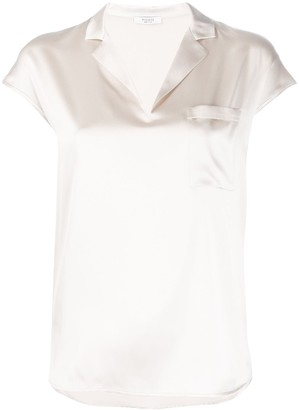 Peserico Notched Collar Loose-Fit Blouse