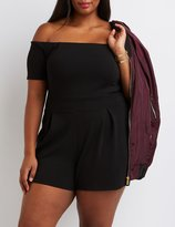 Charlotte Russe Plus Size Off-The-Shoulder Romper