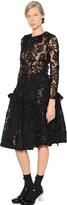 Simone Rocha Ruffled Chenille Embroidered Tulle Dress