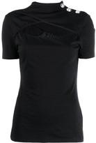 Balmain chest cut-out T-shirt