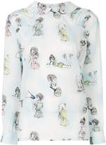 Miu Miu Lady sketch print shirt
