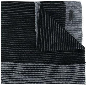 HUGO BOSS Ribbed Knit Scarf